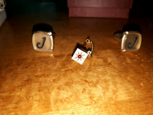 Vintage made in Canada cuff links and tie pins