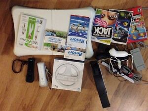 Wii (black) 5 games and fit board