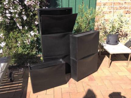 6 shoe storage boxes stackable (IKEA TRONES) Botany Botany Bay Area Preview