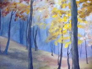 "Original Landscape Painting by H. Brown ""Enchanted Woods"" 1940's Stratford Kitchener Area image 9"