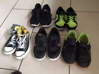 5 pairs kids trainers size 1.5 - 3, converse, nike - £10 **Collect from Romford, RM1