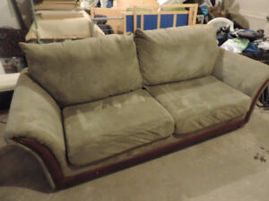Comfy Sage Green Microfibre Couch