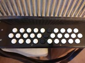 Hohner 3 row button accordion trichord
