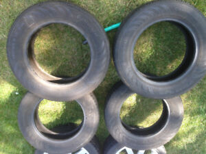 Four original stock tires from a 2007 VW Rabbit
