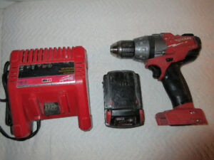 Milwaukee M18 Fuel Brushless Drill, Battery, and Charger