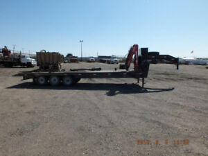35ft x 8ft trailer (26ft deck) with picker