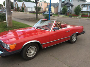 Convertable Mercedes SL