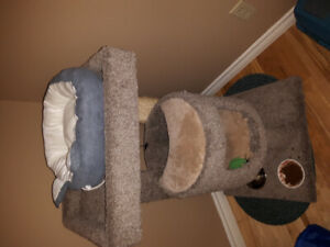 Two Cat  towers and scare pats and accessories  for sale new 200