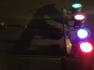 8 par 56 lights with 2 dimmer packs and controller