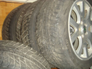 A set of Winter tires Nokian WR D3 on Mags