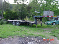 24ft tandem 5th wheel flat deck trailer