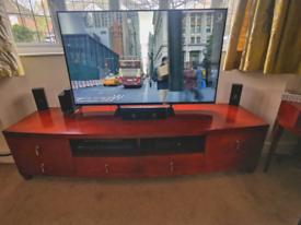 Cherry Hardwood TV Stand