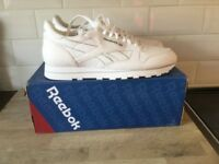 White Reebok Classic Size 13 Trainers