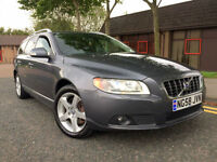 2008 58 Volvo V70 2.4 D5 SE Lux Geartronic 5dr WITH FSH+XENONS+SATNAV+LEATHER