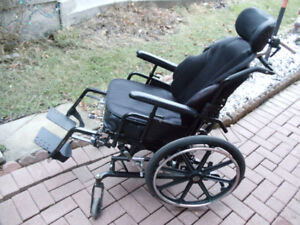 wheelchair supper tilting  ( Backrest and seat are cushion )
