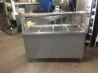 5' stainless steel 4 well steam table