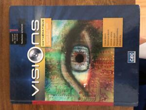 Manuel Visions volume 1 mathématique secondaire 5