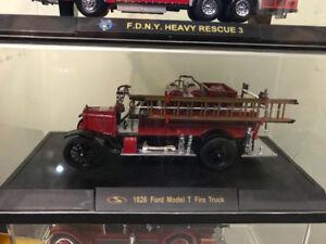 Ford modèle t 1936 fire truck diecadt métal die cast pompier