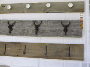Beautiful cast Iron coat hooks on reclaimed Barnboard Belleville Belleville Area image 4