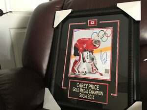 Signed Carey Price Team Canada Sochi 2014 Framed Picture