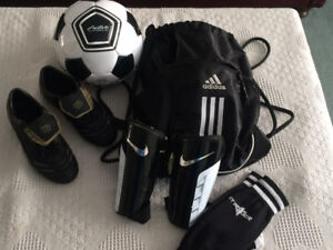 complete soccer gear; new condition