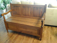 DEACONS BENCH WITH UNDER SEAT STORAGE