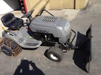 Lawn tractor + mower and snow blade