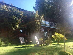 1000Sq.Ft. lower unit apt. in Gibsons BC on 1/2 acre private lot