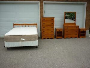 Bedroom Set - Double Bed, Two Dressers and Two Side Tables
