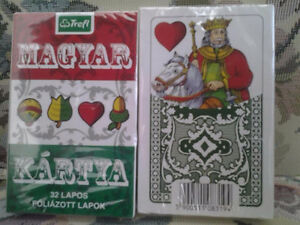 2 PACK HUNGARIAN PLAYING CARDS NEW BUY IT NOW