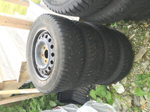 4 Studded rims and tires - 195/65/15 St. John's Newfoundland image 2
