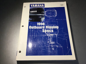1998 Yamaha Marine Outboards Rigging Specs Manual 2-250HP