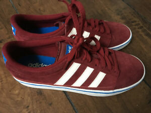 Red Suede Adidas Skate Shoes
