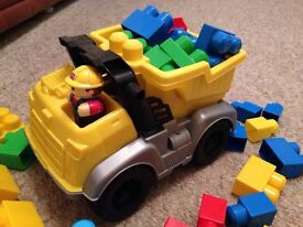 Mega Bloks Dumper Truck and driver. Great condition!