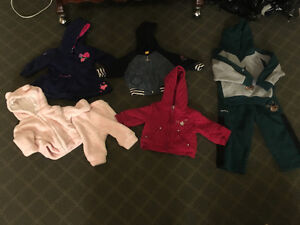 Baby jackets, hoodies and pants