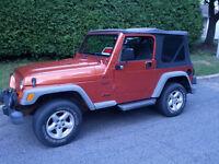 2002 Jeep TJ 2 toits Cabriolet