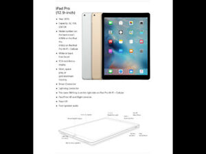 GOLD 12.9 inch iPAD Pro (256GB) + Apple Pencil & Apple Keyboard