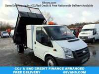 2007 57 FORD TRANSIT TIPPER DROPSIDE PICKUP, 88,299MILES, FSH, COUNCIL OWNED