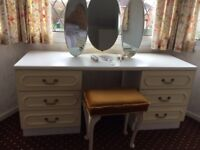White and Cream Dressing Table