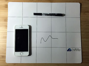Magnetic Dry-Erase Project Mat for Electronic Repair w/ Marker