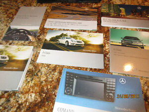 Complete owners manual for 2009 Mercedes Benz E-Class.