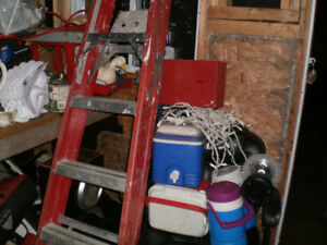 ladder construction fiberglass red 6 feet