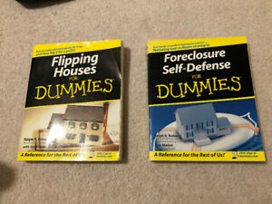 Flipping Houses and Foreclosure Self-Defense Dummies books