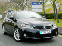 2012 12 Lexus CT 200H 1.8 SE-L 5dr WITH FLSH+FULL LEATHER+HEATED SEATS
