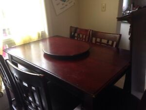 Solid wood pub/bar dining table
