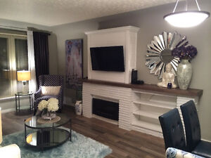 Fully furnished, short term accommodations.  Available October 1