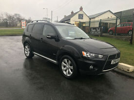 61 MITSUBISHI OUTLANDER 2.2 DI-D GX3 7 SEATS 4X4 174BHP NEW MODEL 84K FSH 1OWNER