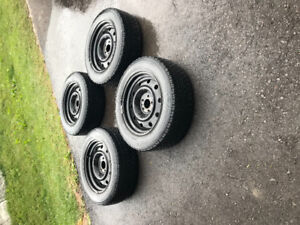 Winter tires on rims / Excellent condition