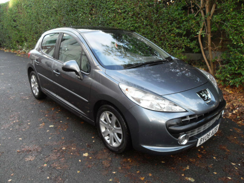 peugeot 207 1 6hdi 2008 diesel 90 grey manual se. Black Bedroom Furniture Sets. Home Design Ideas