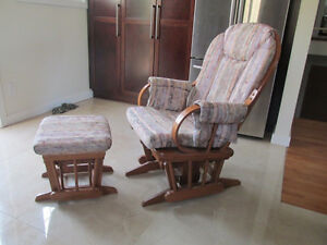 rocking chair and footrest